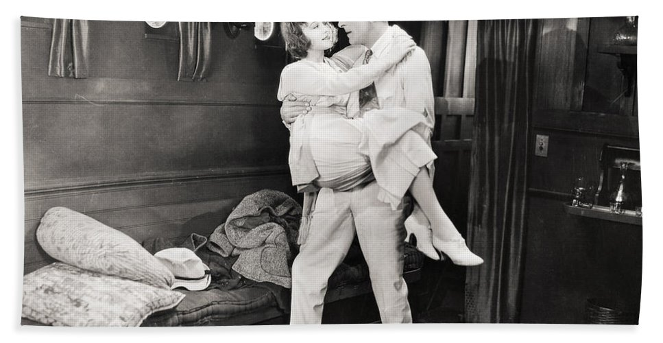 1920s Beach Towel featuring the photograph Silent Film Still: Ships by Granger