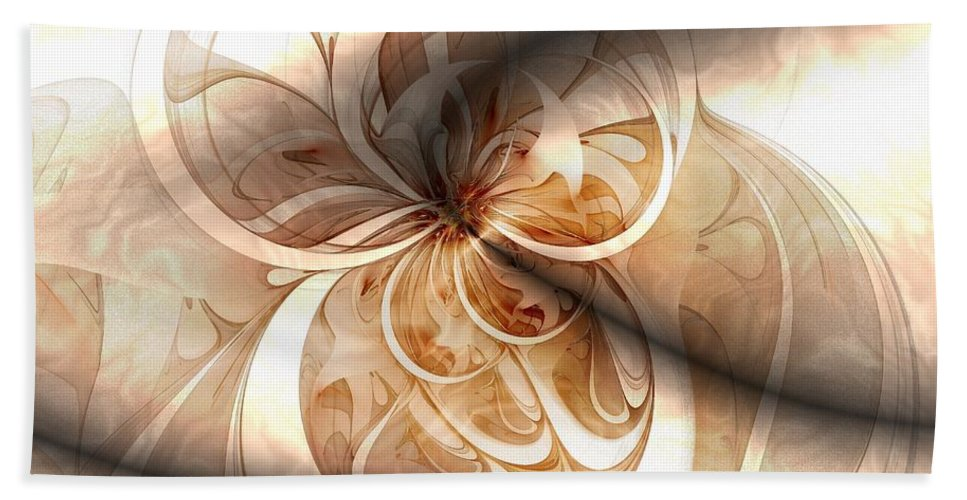 Digital Art Beach Towel featuring the digital art Silk by Amanda Moore