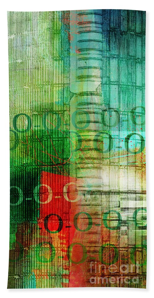 Pop Beach Towel featuring the photograph Silo Abstract 1 by Edward Fielding