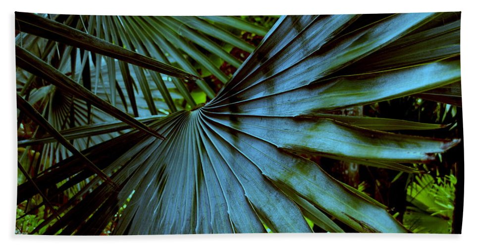 Silver Palm Leaf Beach Towel featuring the photograph Silver Palm Leaf by Susanne Van Hulst