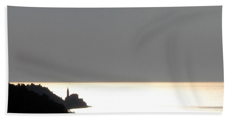 Sunset Beach Towel featuring the photograph Silvery by Dragica Micki Fortuna