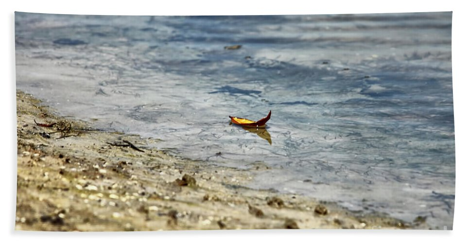 Leaf Beach Towel featuring the photograph Simplicity by Deborah Benoit