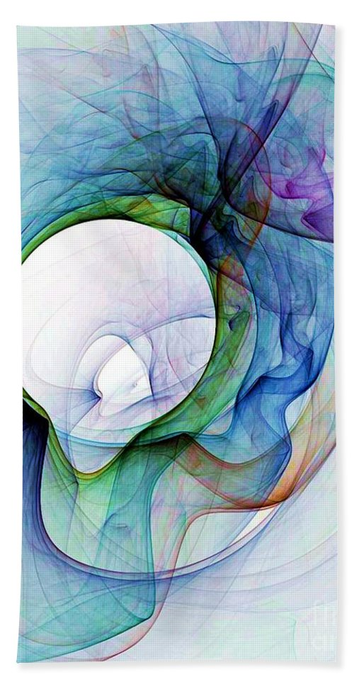 Smoke Beach Towel featuring the digital art Simulated Colored Smoke by Ron Bissett