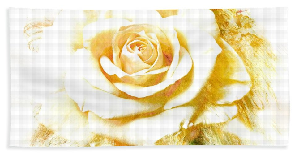 Rose Beach Towel featuring the photograph Single Rose by Athala Bruckner