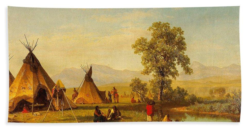 Sioux Village Near Fort Laramie - Native Indian Wall Art Prints ...
