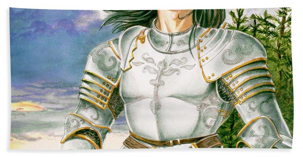 Swords Beach Sheet featuring the painting Sir Lancelot by Melissa A Benson