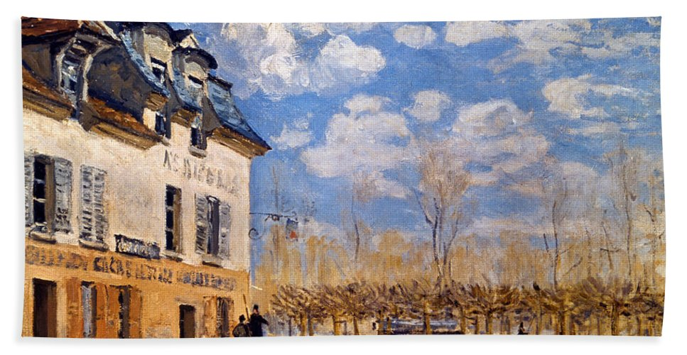 1876 Beach Towel featuring the photograph Sisley: Flood, 1876 by Granger