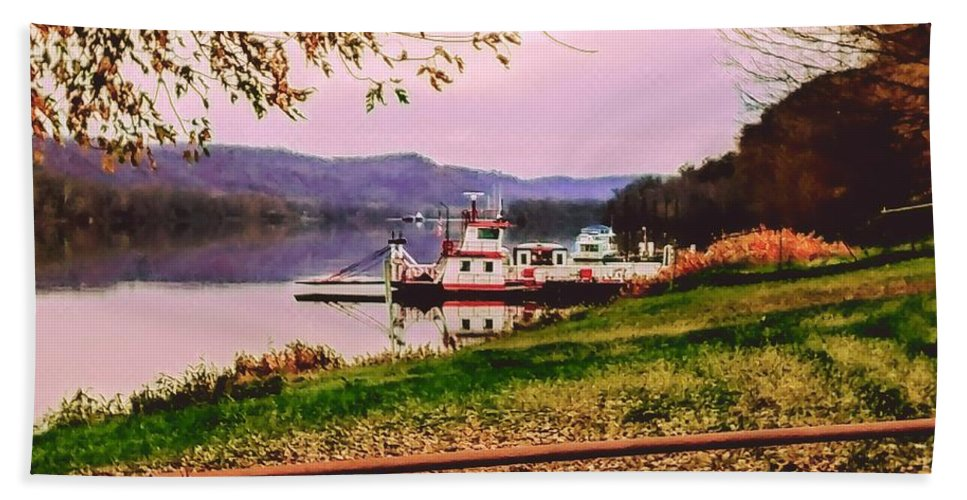 Beach Towel featuring the photograph Sisters Ville Ferry by Lorie Kash