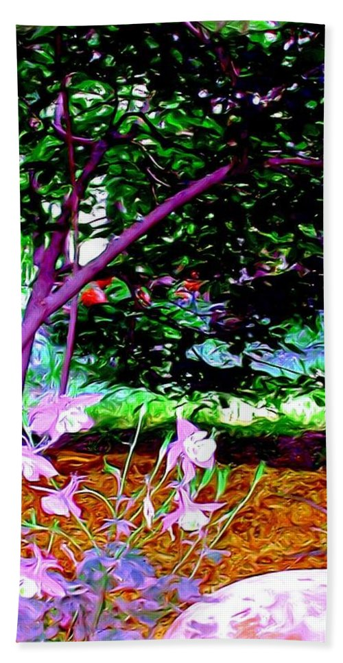 Fine Art Beach Towel featuring the painting Sitting in the Shade by Patricia Griffin Brett