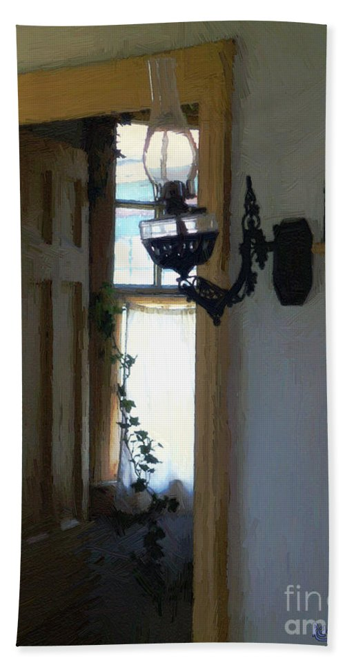 Americana Beach Towel featuring the painting Sitting Room Doorway by RC DeWinter