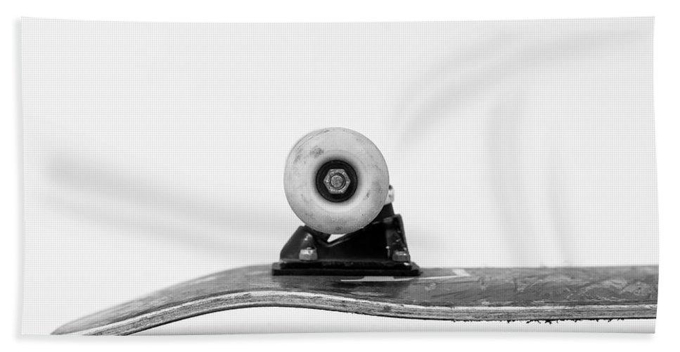 Skateboard Beach Towel featuring the photograph Skateboard by John Sukowaty