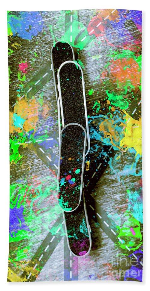 Skateboard Beach Towel featuring the photograph Skating Pop Art by Jorgo Photography - Wall Art Gallery