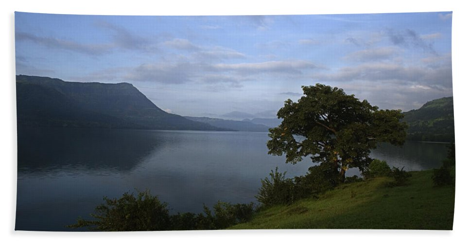 Overlooking Beach Towel featuring the photograph Skc 3959 Overlooking The Lake by Sunil Kapadia