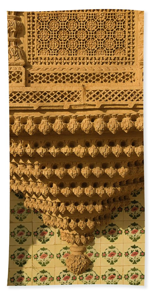 Endearing Beach Towel featuring the photograph Skn 1323 Endearing Carvings by Sunil Kapadia