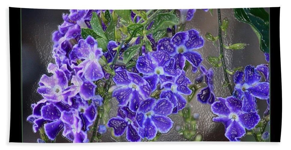 Flowers Beach Towel featuring the photograph Sky Flower Window by Carol Groenen