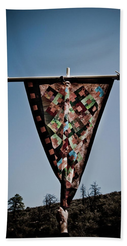Quilt Beach Towel featuring the photograph Sky Quilt by Scott Sawyer