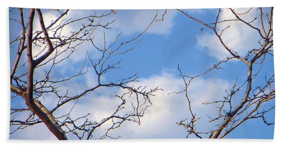 Sky Beach Towel featuring the photograph Look At The Blue Sky by Vesna Antic