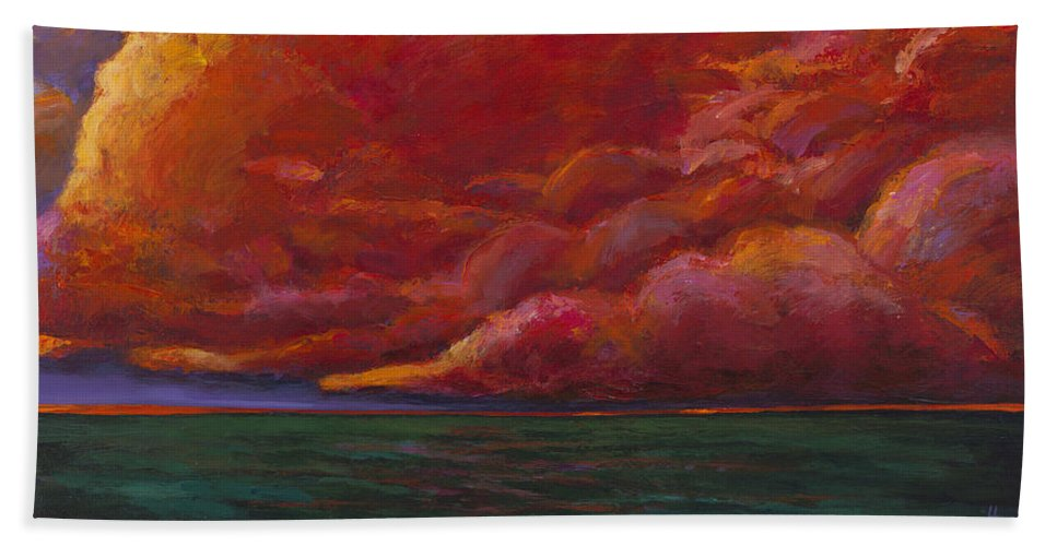 Sunset Beach Towel featuring the painting Skydance by Johnathan Harris