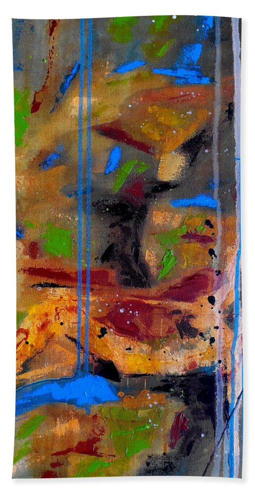 Abstract Beach Towel featuring the painting Skyward by Ruth Palmer