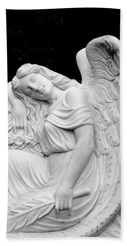 Angel Beach Towel featuring the photograph Sleeping Angel by Jean Haynes