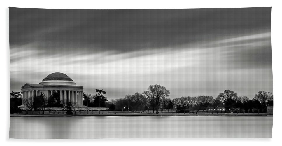 Black And White Beach Towel featuring the photograph Sleeping Giant by Edward Kreis