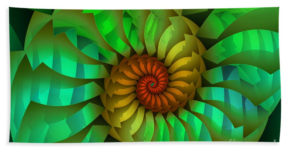 Fractal Beach Towel featuring the digital art Sleeping Spring by Jutta Maria Pusl