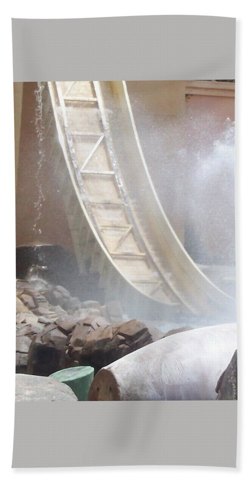 Slide Beach Towel featuring the photograph Slide Splash by Pharris Art