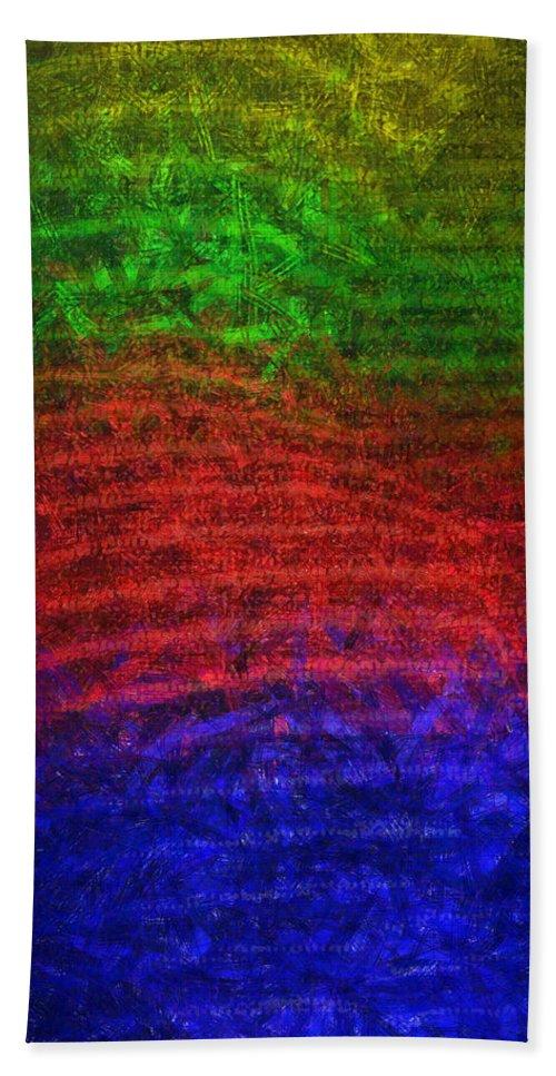 Slim Beach Towel featuring the digital art Slim Silhouette - Da by Leonardo Digenio