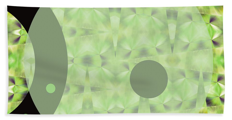 Abstract Beach Towel featuring the digital art Slow Fade by Ruth Palmer