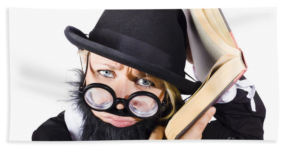 Information Beach Towel featuring the photograph Smart Woman Researching Info by Jorgo Photography - Wall Art Gallery