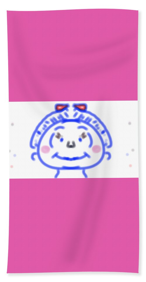 Kids Beach Towel featuring the digital art Smile by Nawal Aljohani
