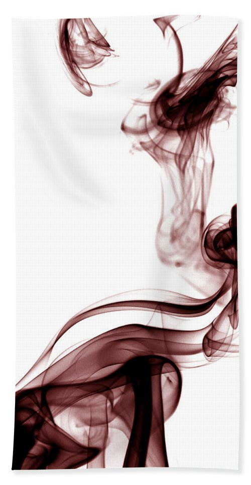 Photography Beach Towel featuring the photograph Smoke Photography - Red by Alexander Butler