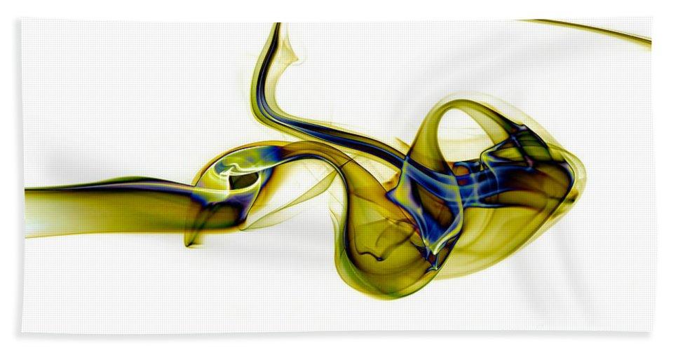Abstract Beach Towel featuring the photograph smoke XXXVII ma2 by Joerg Lingnau