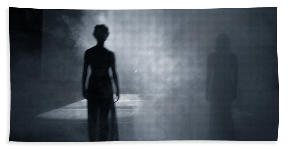 Shadows Beach Towel featuring the photograph Smokey Ghosts by Scott Sawyer