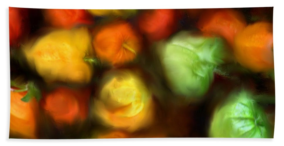Peppers Beach Towel featuring the photograph Smooth Peppers by Ian MacDonald