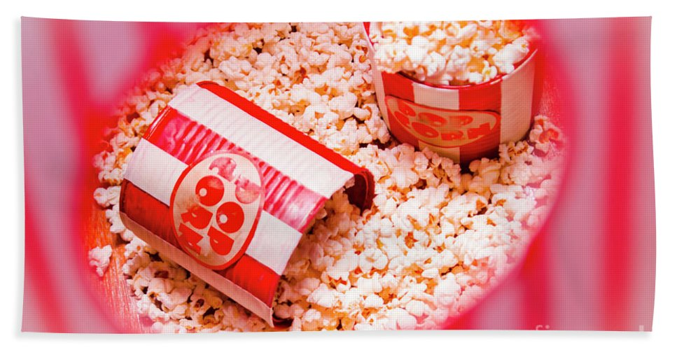 Entertainment Beach Towel featuring the photograph Snack Bar Pop Corn by Jorgo Photography - Wall Art Gallery