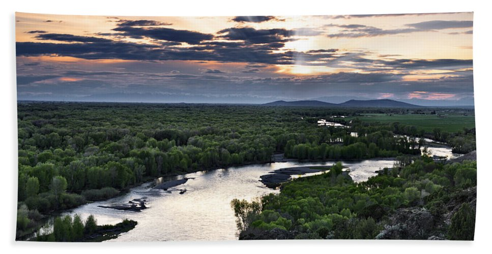 Snake River Beach Towel featuring the photograph Snake River by Leland D Howard