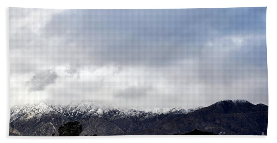Clay Beach Towel featuring the photograph Snow Line by Clayton Bruster