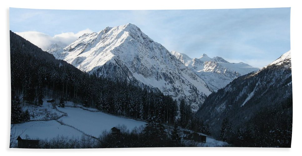 Snow Beach Towel featuring the photograph Snow On The Mountains by Christiane Schulze Art And Photography