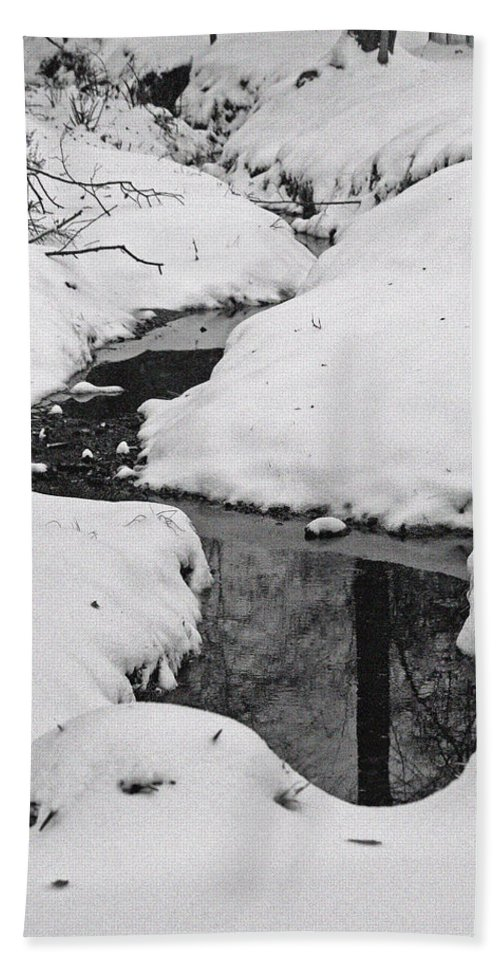 Winter Beach Towel featuring the photograph Snow Stream 2 by David Campbell