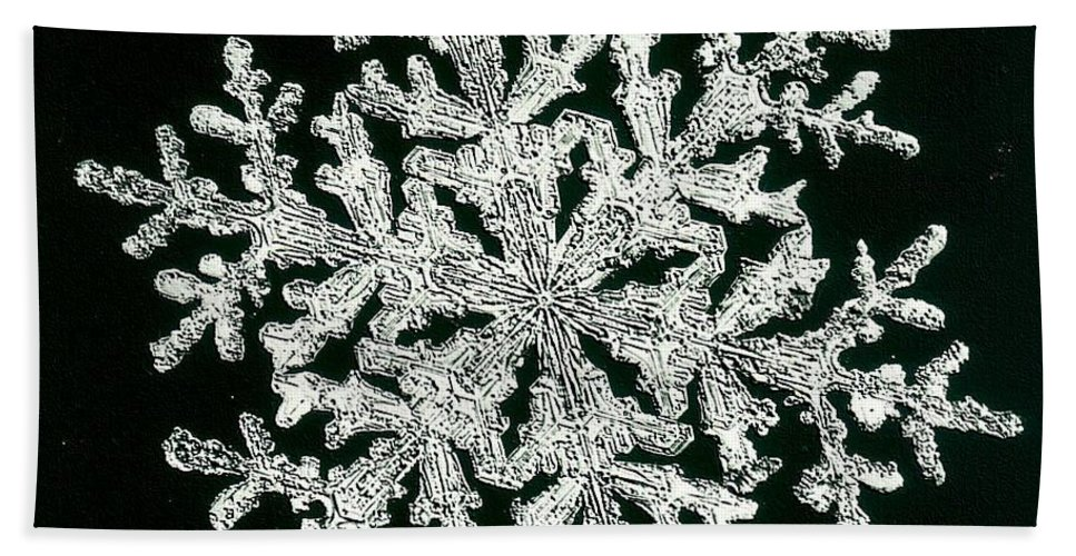 Snowflake Beach Towel featuring the photograph snowflake I by Dragica Micki Fortuna