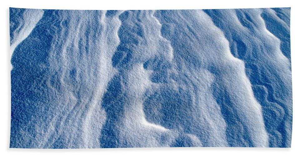 Talvi Beach Towel featuring the photograph Snowforms 1 by Jouko Lehto