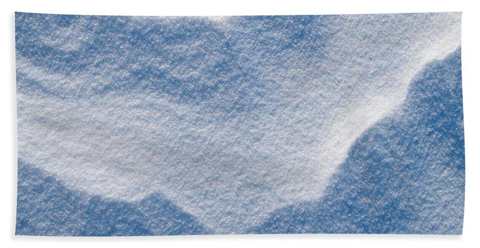 Talvi Beach Towel featuring the photograph Snowforms 3 by Jouko Lehto