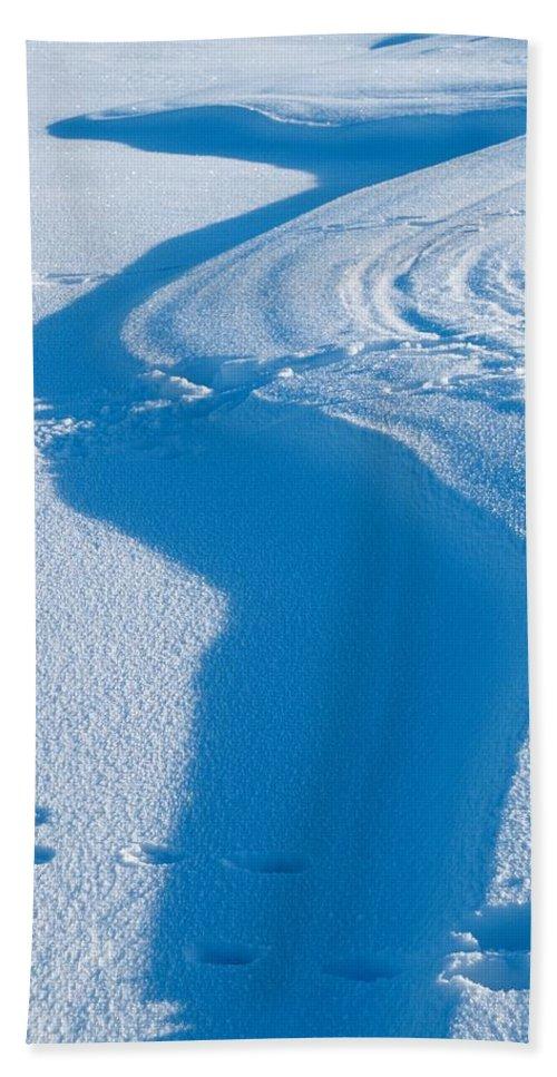 Talvi Beach Towel featuring the photograph Snowforms 4 by Jouko Lehto