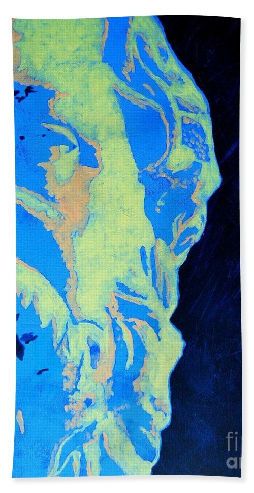 Socrates Beach Towel featuring the painting Socrates - Ancient Greek Philosopher by Ana Maria Edulescu