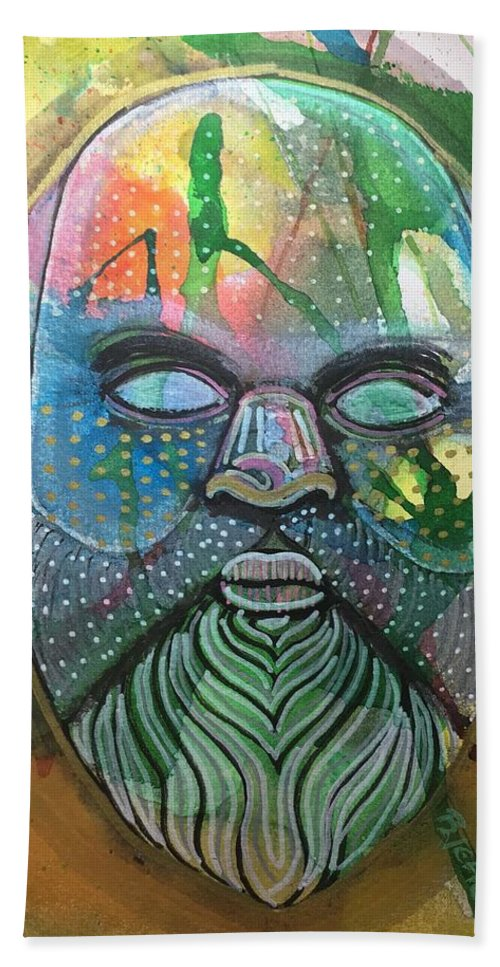 Socrates Beach Towel featuring the mixed media Socrates by Regina Jeffers
