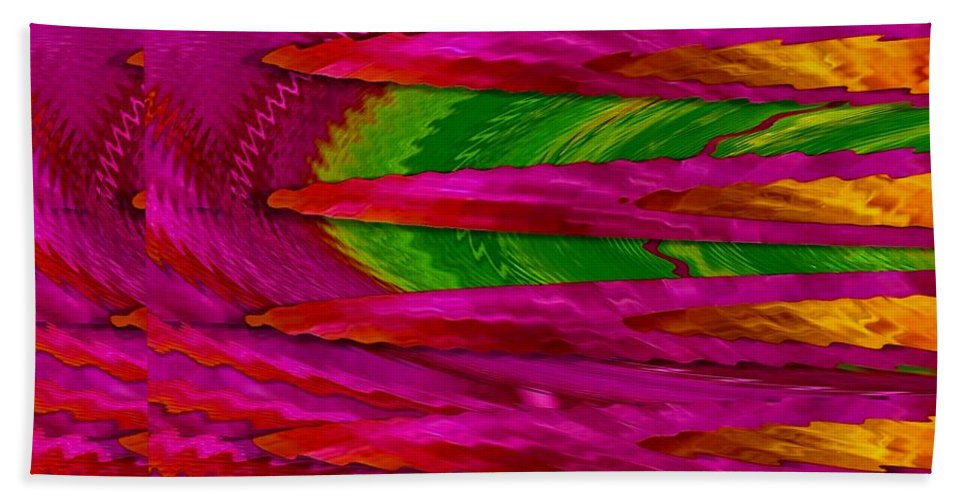 Abstract Beach Towel featuring the mixed media Soft And Wonderful Art by Pepita Selles