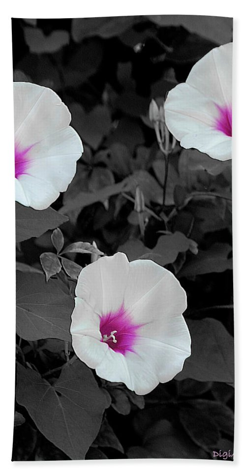 Wildflowers Beach Towel featuring the digital art Soft Contrast by DigiArt Diaries by Vicky B Fuller