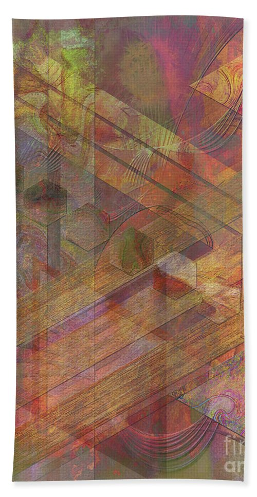 Soft Fantasia Beach Towel featuring the digital art Soft Fantasia by John Beck
