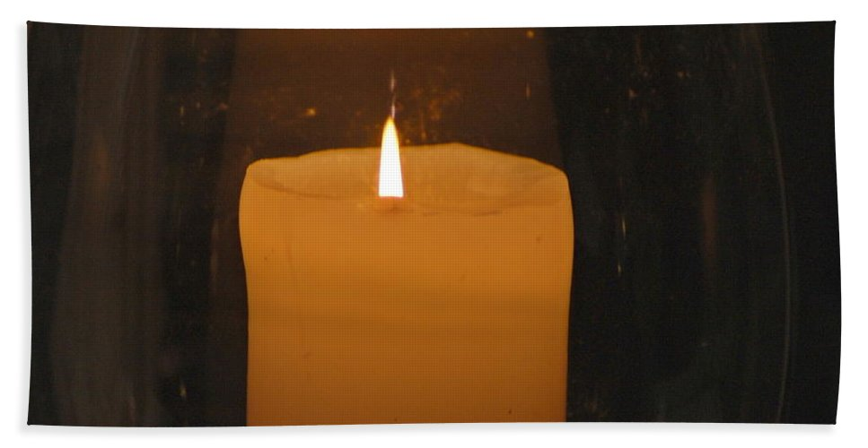 Candle Beach Towel featuring the photograph Soft Glow by Richard Bryce and Family